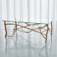 Studio A Twig Cocktail Table - Gold Leaf