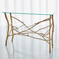 Studio A Twig Console - Gold Leaf