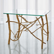 Studio A Twig End Table - Gold Leaf