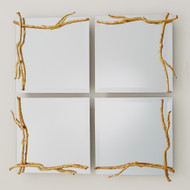 Studio A Twig Mirror - Gold Leaf - Sm