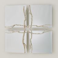 Studio A Twig Mirror - Silver Leaf - Sm