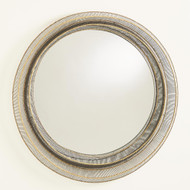 Studio A Wire Ribbon Mirror - Natural Iron/Brass Braising