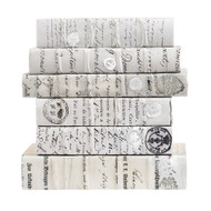 E Lawrence Antiqued Scripted Parchment - Wax White Large