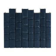 E Lawrence Steel Blue Parchment Bound Books