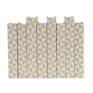 E Lawrence White Geometric Pattern On Cream Background