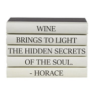 "E Lawrence 5 Vol. Quote Stack ""Wine Brings To Light..."""