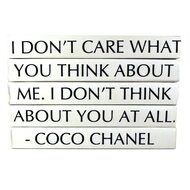 """E Lawrence Quotation Series: Coco Chanel """"I Don'T Care What You Think..."""" 5 Volume Stack"""