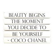 "E Lawrence Quotation Series: Coco Chanel ""Beauty Begins The Moment..."" 5 Volume Stack"