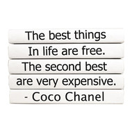 "E Lawrence Quotation Series: Coco Chanel ""The Best Things..."" 5 Volume Stack"
