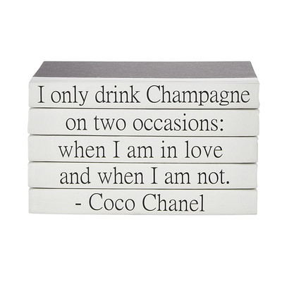 """E Lawrence Quotations Series: Coco Chanel """"Champagne"""""""