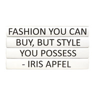 "E Lawrence Quotations Series: Iris Apfel ""Fashion You Can Buy..."" 4 Vol."