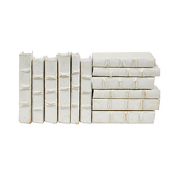 E Lawrence 12 Volume Mini Collection Of White Parchment Bound Books