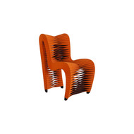 Phillips Collection Seat Belt Dining Chair, Orange