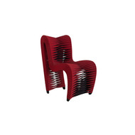 Phillips Collection Seat Belt Dining Chair, Red