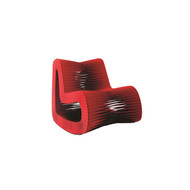 Phillips Collection Seat Belt Rocking Chair, Red