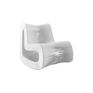 Phillips Collection Seat Belt Rocking Chair, White