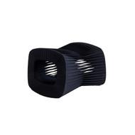 Phillips Collection Seat Belt Ottoman, Black/Black