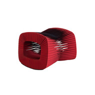 Phillips Collection Seat Belt Ottoman, Red