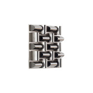 Phillips Collection Arete Wall Tile, Stainless Steel