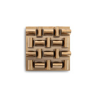 Phillips Collection Arete Wall Tile, Plated Brass Finish