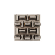 Phillips Collection Arete Wall Tile, Plated Black Nickel Finish