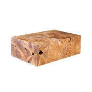 Phillips Collection Teak Slice Coffee Table, Rectangle