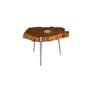Phillips Collection Molten Coffee Table, Poured Aluminum In Wood