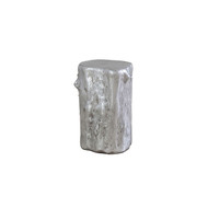 Phillips Collection Log Stool, Silver Leaf, SM
