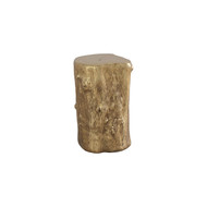 Phillips Collection Log Stool, Gold Leaf, SM