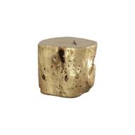 Phillips Collection Log Stool, Gold Leaf, LG