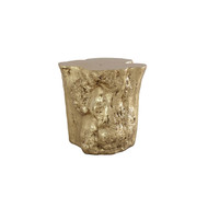 Phillips Collection Log Side Table, Gold Leaf