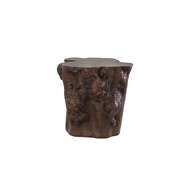 Phillips Collection Log Side Table, Bronze