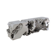Phillips Collection Freeform Bench, Silver Leaf