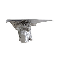 Phillips Collection Crown Console, Silver Leaf