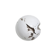 Phillips Collection Cast Root Wall Ball, Resin, White, MD