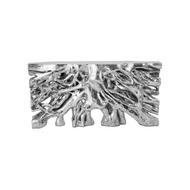 Phillips Collection Square Root Console Table, Silver Leaf