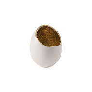 Phillips Collection Broken Egg Vase, White and Gold Leaf