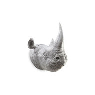 Phillips Collection Rhino Wall Art, Resin, Silver Leaf