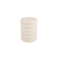 Phillips Collection Ribbed Stool, Gel Coat White