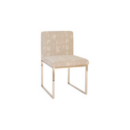 Phillips Collection Frozen Dining Chair, Khaki Grey, Stainless Steel Frame