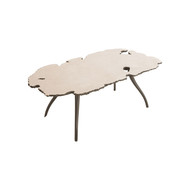 Phillips Collection Lava Coffee Table on Iron Legs