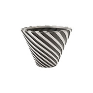 Phillips Collection Turbo Pot, Aluminum and Black