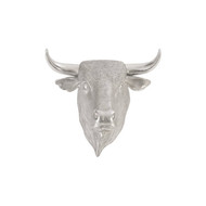 Phillips Collection Spanish Fighting Bull Wall Art, Resin, Silver Leaf