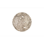 Phillips Collection Molten Disc Wall Art, Silver Leaf, MD