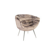 Phillips Collection Nouveau Club Chair, Mist Grey, Stainless Steel Legs