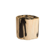 Phillips Collection Cast Petrified Wood Stool, Resin