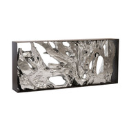 Phillips Collection Cast Root Console Table, Iron Frame, Resin, Silver Leaf