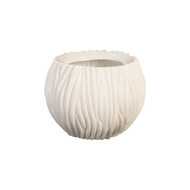 Phillips Collection Alon Vase, Gel Coat White