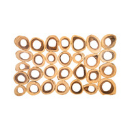 Phillips Collection Chuleta Rings Wall Art, Chamcha Wood, Rectangular