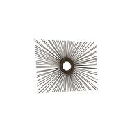 Phillips Collection Spoke Mirror, Burnt, Square